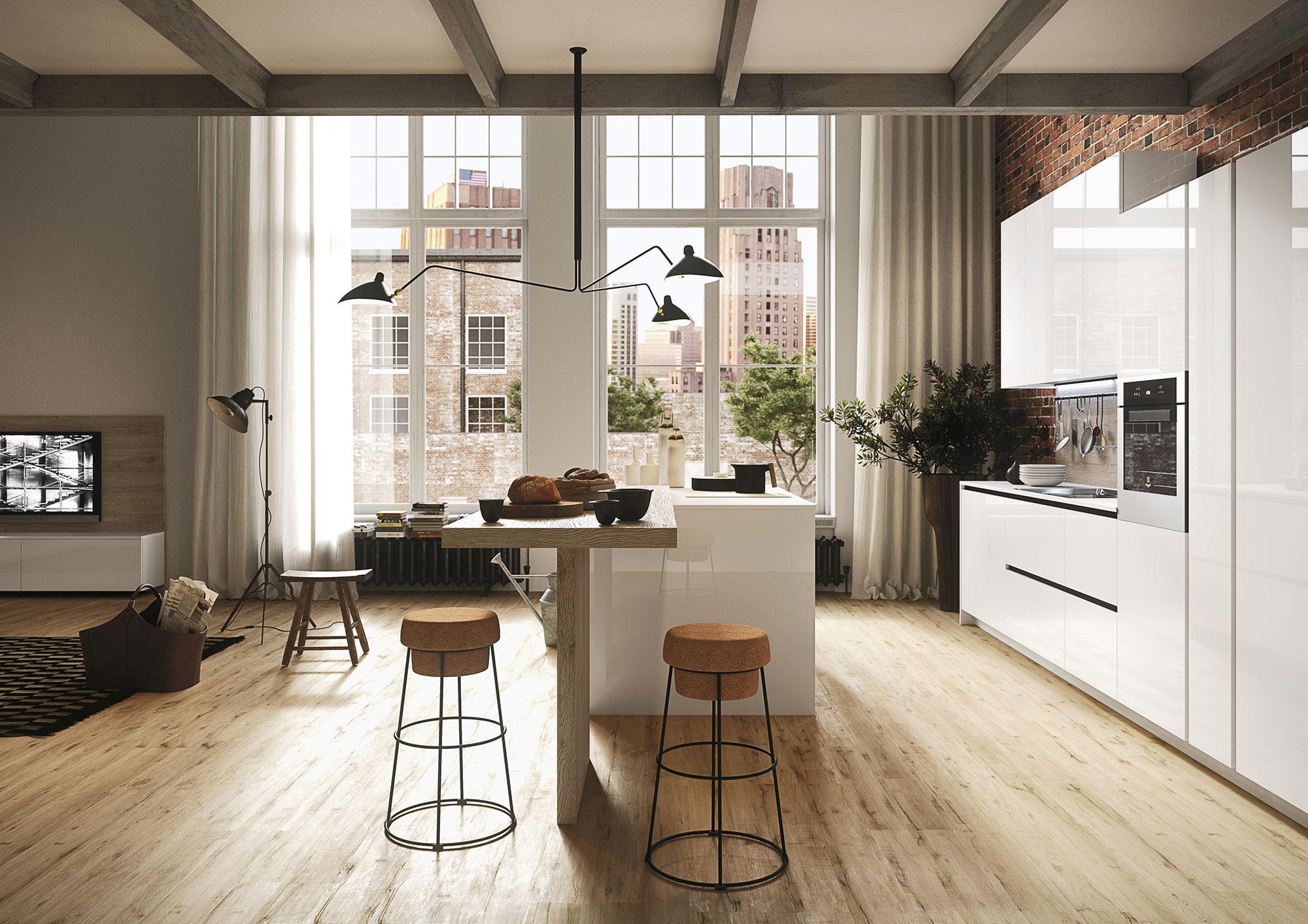 Deco Salle De Bain Beige Et Marron ~ Cuisine Moderne First Snaidero Mktop